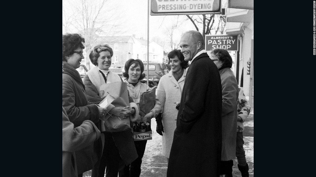 Glenn with family members during his Senate campaign in 1964. He didn't win, but he ran again and was elected in 1974. He eventually served four terms.