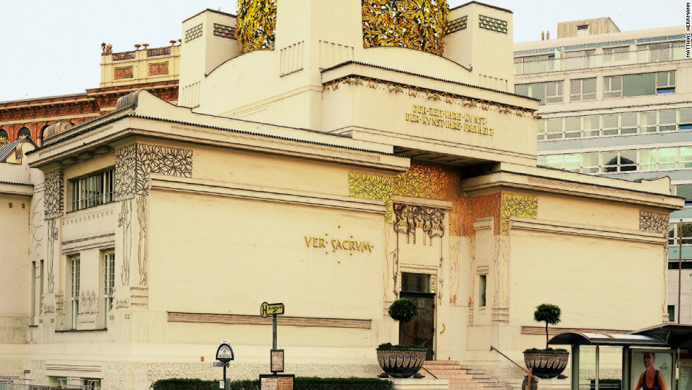 "Klimt was one of a number of prominent avant-garde artists in Vienna collectively known as the ""Secessionists."" <br /><br />Pictured is the art nouveau Secession Museum, which boasts Klimts's Beethoven mural and temporary exhibitions of contemporary art."