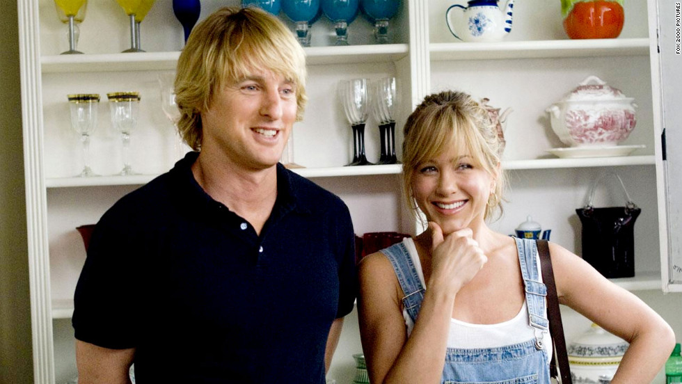 "Owen Wilson and Aniston starred in ""Marley & Me."" The pair played John and Jenny Grogan, a couple who adopt a dog named Marley that changes their lives."