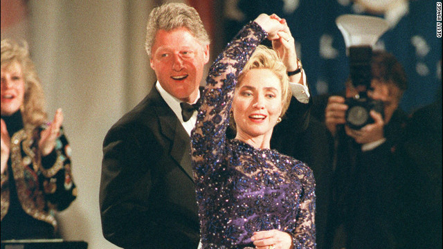 1993: Clinton plays the saxophone