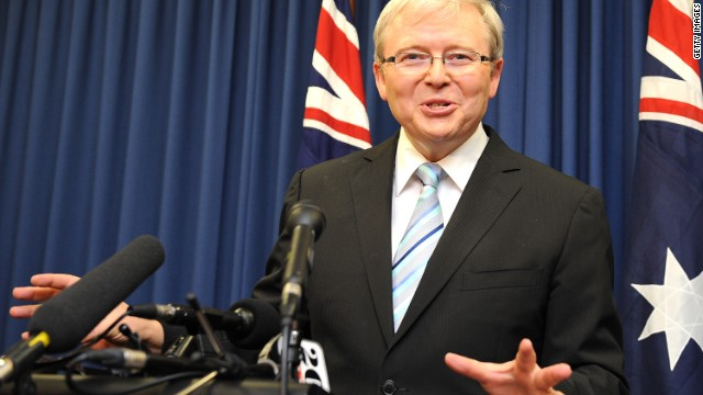 Rudd challenges for party leadership