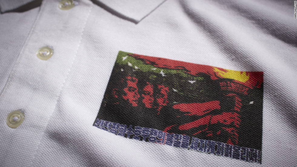 "If anyone were to think North Korean propaganda was relentlessly martial, this golf shirt (made in Pakistan) proclaims, ""Let's Ignite the Fire for Peace."""
