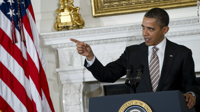 President Barack Obama addressed the nation's governors at a White House luncheon Monday.