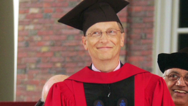 He didn't, but Gates says finish college