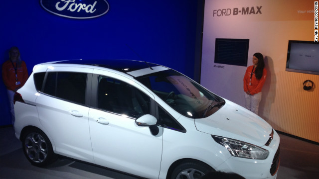 Ford's new B-Max car is launched at the Mobile World Congress in Barcelona