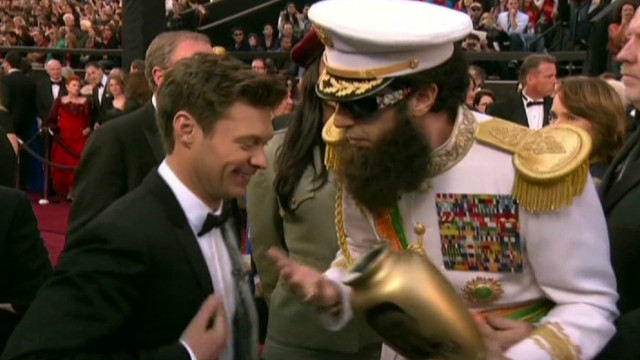 'Dictator' spills ashes on Seacrest