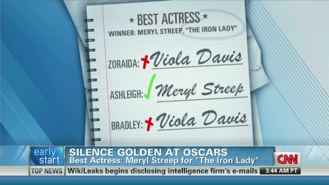 Silence is golden at the Oscars