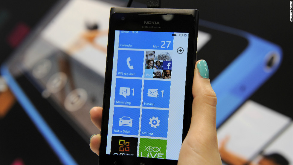 Nokia's Lumia 900 mobile phone