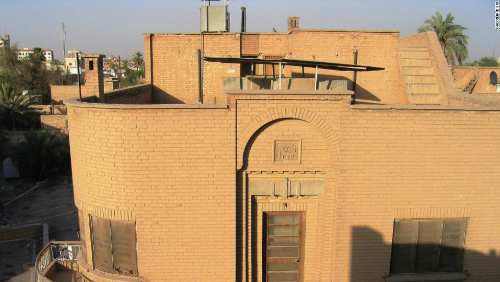 A 1946 house in the Abu Nuwas neighborhood showing traditional Baghdad brickwork.
