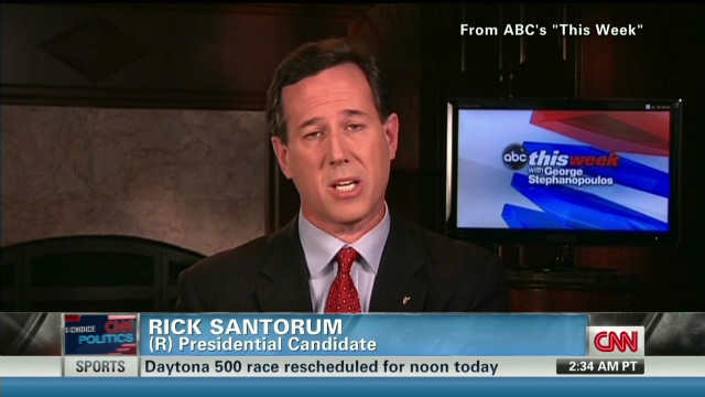 Santorum: 'Makes me want to throw up'
