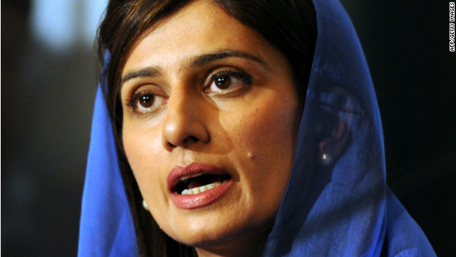 Pakistan's Foreign Minister Hina Rabani Khar announces the construction of a natural gas pipeline to Iran on March 1, 2012.
