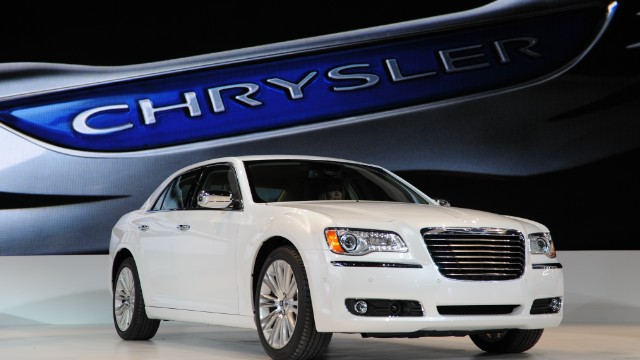 The Chrysler 300 is seen during the press preview day at the 2011 North American International Auto Show in this January 10, 2011 file photo in Detroit, Michigan.