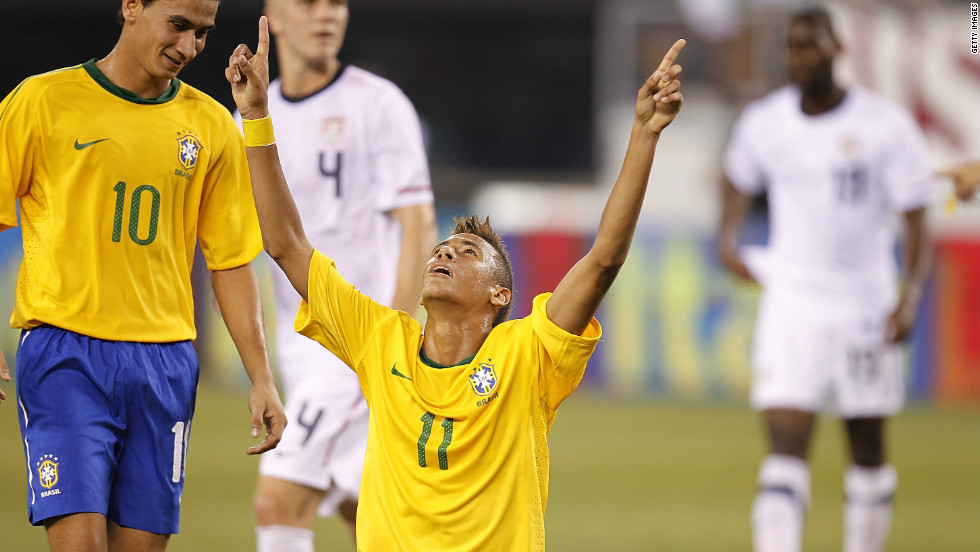 Neymar made his debut for the Brazil national team in August 2010 against the U.S. in New Jersey. The 18-year-old marked his first match for the five-time world champions with a goal in Brazil's 2-0 win.