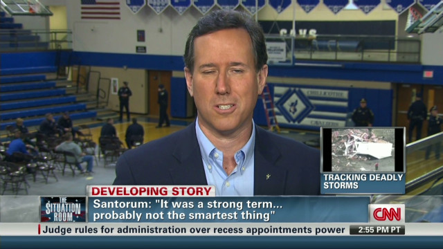 Santorum backtracks on Obama snob comment