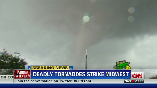 Deadly tornado intensifies in Indiana