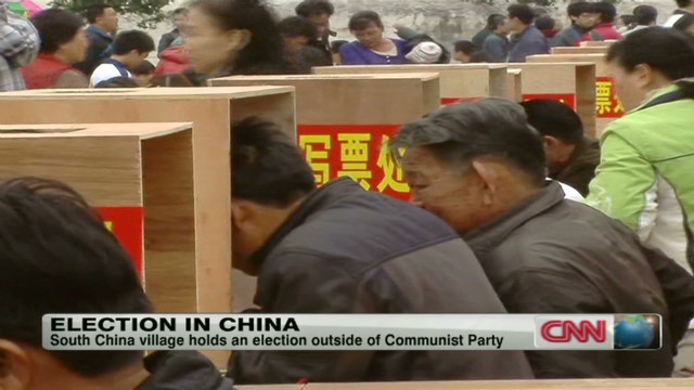 Election in China village