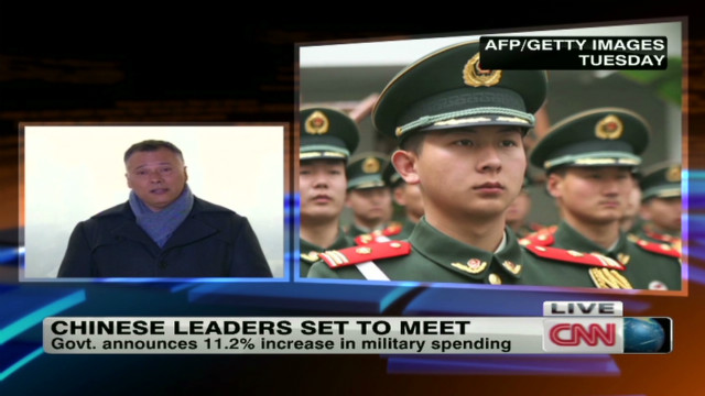 China boosts military spending