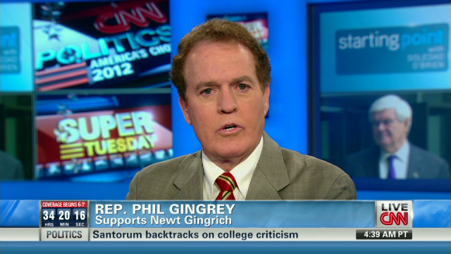 Rep. Gingrey discusses Gingrich campaign