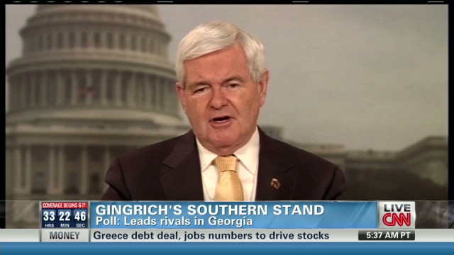 Gingrich banks on Southern wins