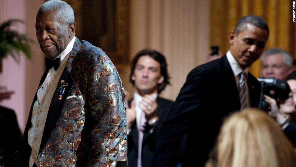 The French people and media get a kick out of seeing Obama's laid back demeanor, his hipness, and yes, his impromptu duets with B.B. King.
