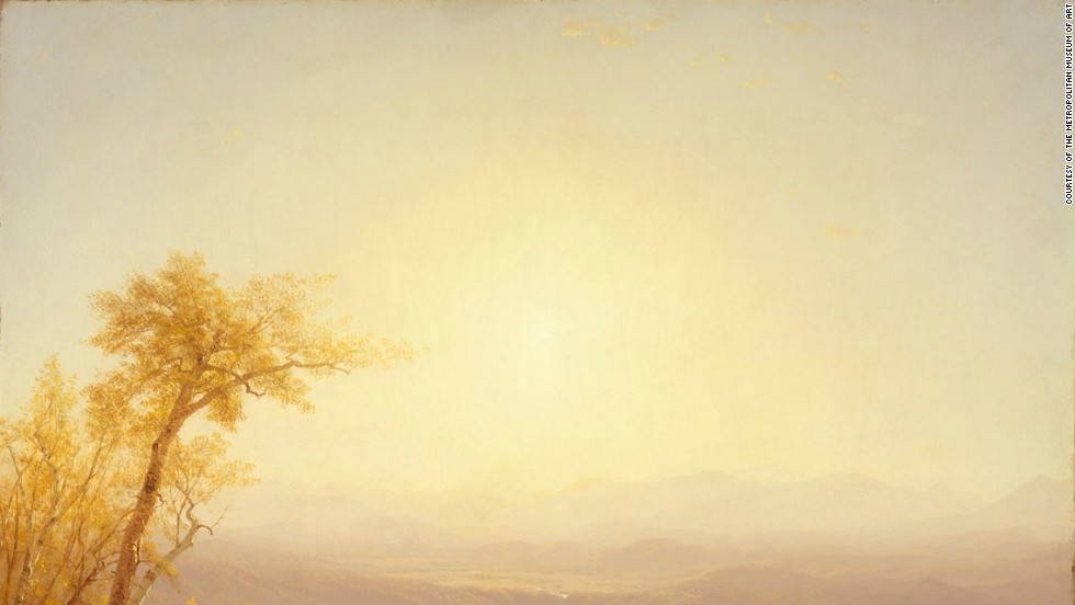 "The great wilderness is celebrated in ""Kauterskill Clove,"" pictured here, by Sanford Robinson Gifford."
