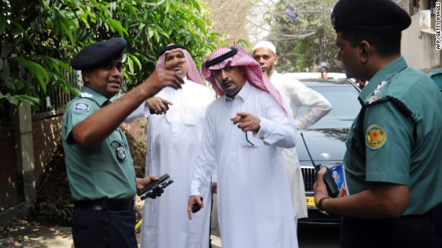 Bangladeshi and Saudi Embassy officials investigate the murder of a Saudi Arabian diplomat shot dead in Dhaka, Bangladesh.