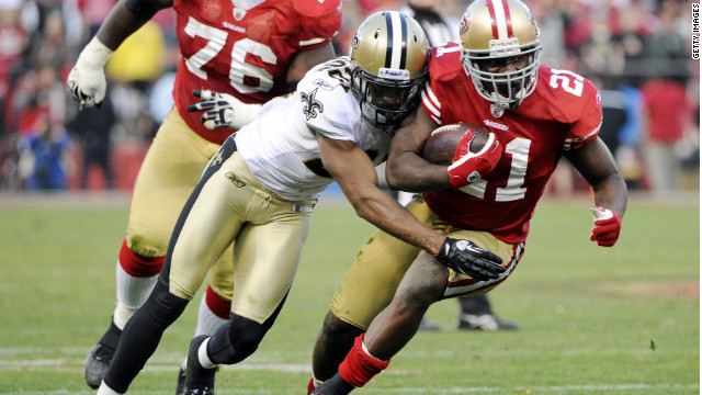 "The New Orleans Saints, shown here against the San Francisco 49ers, are subject of uproar over ""pay  for perfomance"" system"