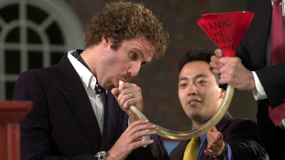 "Will Ferrell makes comedy part of the Class Day address at Harvard in 2003. He said, ""After months of secret negotiations, several hundred secret ballots, and a weekend retreat with Vice President Dick Cheney in his secret mountain bunker, a Class Day speaker was chosen, and it was me. You obviously have made a grave error. But it's too late now. So let's just go with it."" He also did an impersonation of George W. Bush."