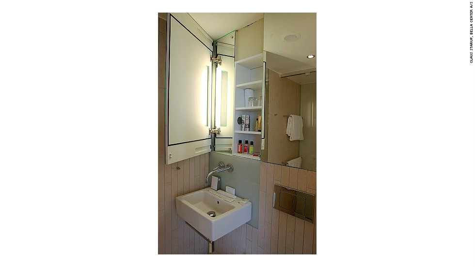 A nice bathroom is a key requirement for women travelers -- Bella Sky's is stocked with exclusive products including day and night moisturizers.