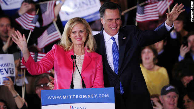 GOP presidential candidate Mitt Romney celebrated with supporters in Boston, Massachusetts on Super Tuesday night.