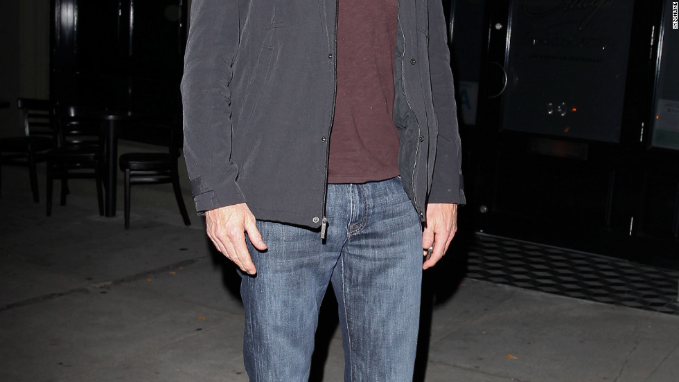 Denis Leary leaves a restaurant in Los Angeles.