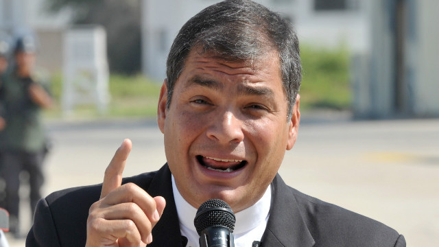 Ecuadorean President Rafael Correa, right, has accused his older brother of corruption.