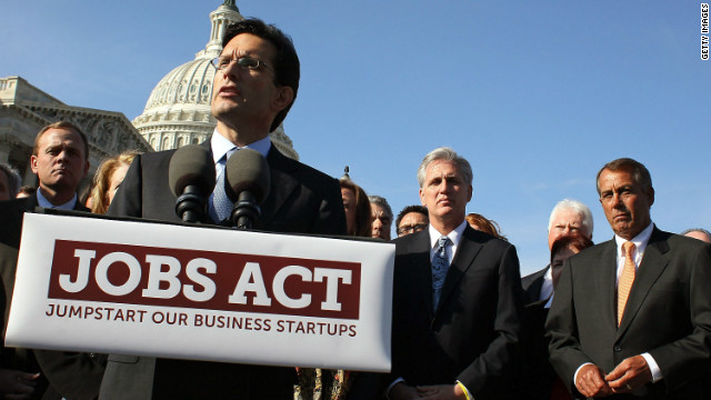 House Majority Leader Eric Cantor, foreground, was joined by more of the House GOP leadership during a February 28 news conference