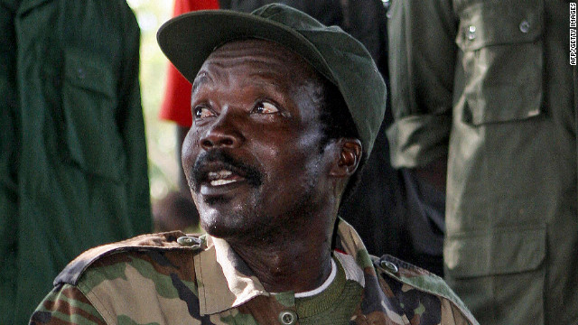 Joseph Kony,  the leader of the Lord's Resistance Army, which is terrorizing four African nations,  in 2006