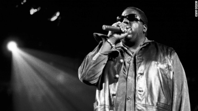 "Notorious B.I.G., shown here performing at Madison Square Garden in 1995, ""creatively figured out ways to be authentic,"" Rob Stone said."