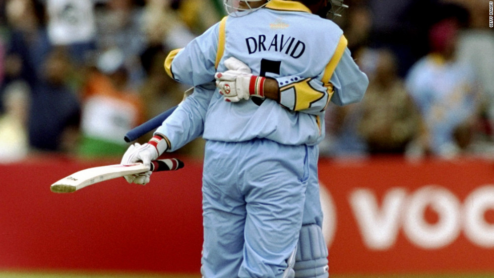 Dravid smashed 145 in a 318-run partnership with Sourav Ganguly during a match with Sri Lanka at the 1999 World Cup, a record in the one-day form of the game.
