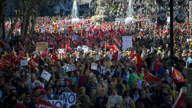 Madrid austerity protests