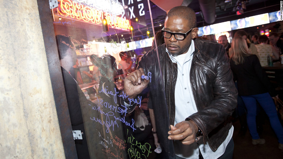 Actor Forest Whitaker visits the CNN Grill at SXSW, a popular eatery, hangout and performance space that started last year.