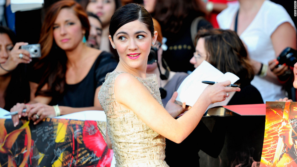 The District 2 girl tribute is Clove, played by Isabelle Fuhrman. She is a pro at throwing knives.