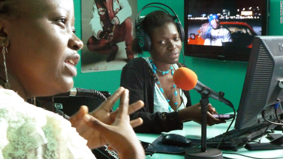 Jna O'djino (left) and Ingrid Wani (rght), local hip hop critics on popular radio show Urban FM.