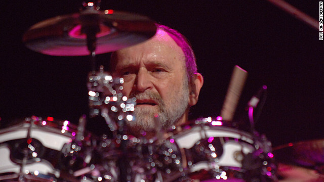 Michael Hossack, shown here performing with the Doobie Brothers in 2005, died on Monday.
