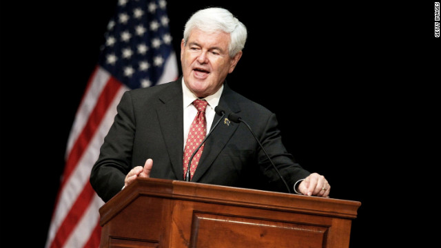 BILOXI, MS - MARCH 12: Republican presidential candidate, former Speaker of the House Newt Gingrich speaks during the Gulf Coast Energy Summit at the Mississippi Coast Coliseum on March 12, 2012 in Biloxi, Mississippi. As the race for delegates continues, Alabama and Mississippi will hold their primaries tomorrow. (Photo by Sean Gardner/Getty Images)