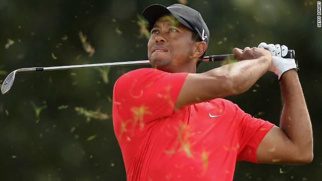 American Tiger Woods has won 14 majors and has spent a total of 623 weeks at the top of the world rankings.