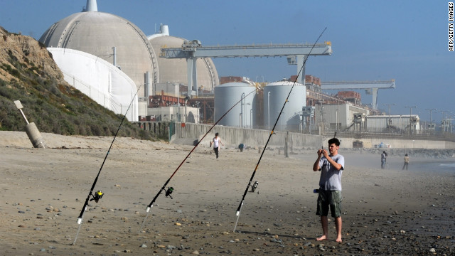 The San Onofre nuclear power plant in San Diego County, California, sits on the edge of the Pacific.