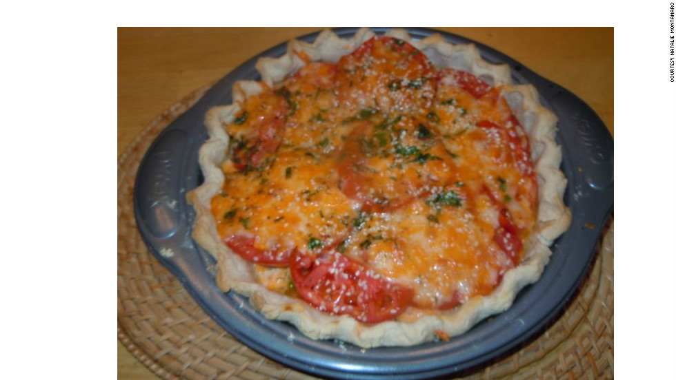 iReporter Natalie Montanaro says she has tasted numerous tomato pies back in South Carolina, and she used those experiences to inspire her own recipe when she crafted this pie in Canada.