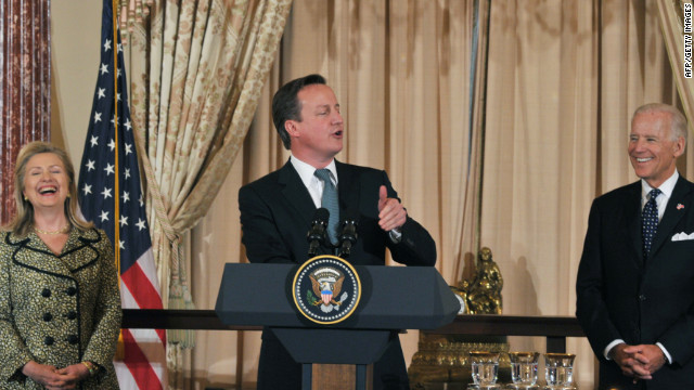 Cameron cracks joke about Obama's gift