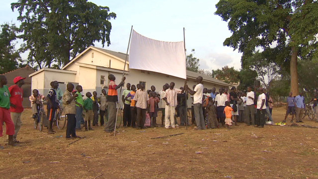 Villagers in Uganda watch 'Kony 2012'
