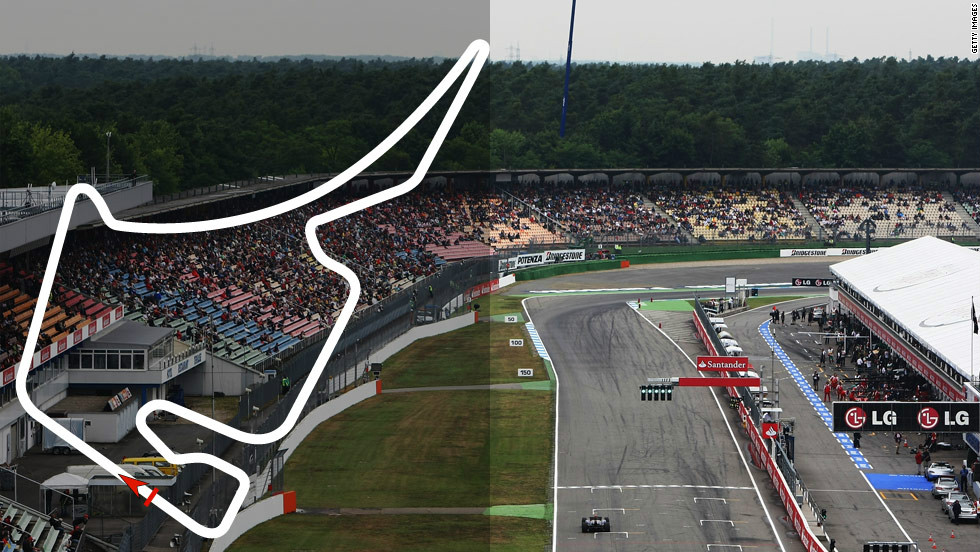 <strong>German Grand Prix:</strong> July 22, Hockenheim  <strong>Defending champion:</strong> Lewis Hamilton, McLaren