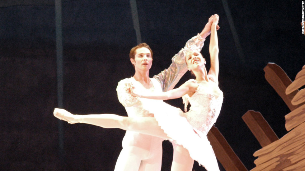 "Haglund dances in a production of ""The Nutcracker."""