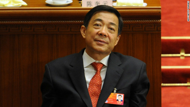 Chongqing Party Secretary Bo Xilai at the closing ceremony of the National People's Congress (NPC) in Beijing on March 14, 2012.